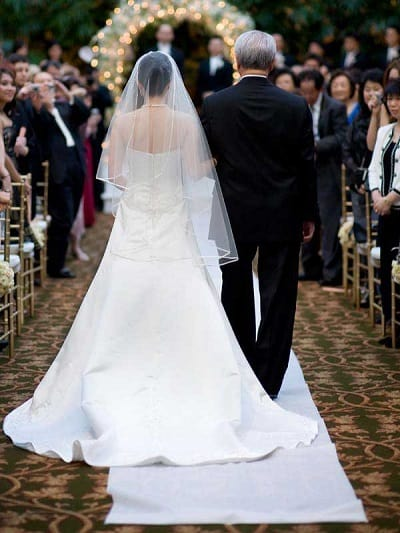 Walk Down Aisle Wedding Traditions Not Seeing Each Other Before The