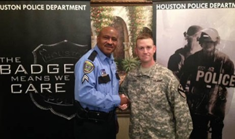 Senior Police Officer Mark Slade is a recruiter for the Houston Police Department.