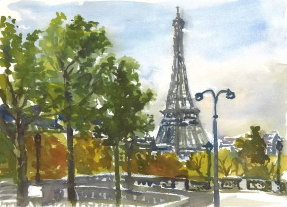 Eiffel Towerw Lights, Paris