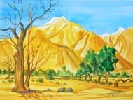 Manzanar Bare and Green