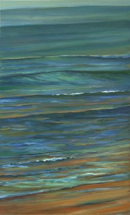 """30"""" x 48"""" A studio piece created by Ron Libbrecht for the January exhibition """"Making a Mark""""."""