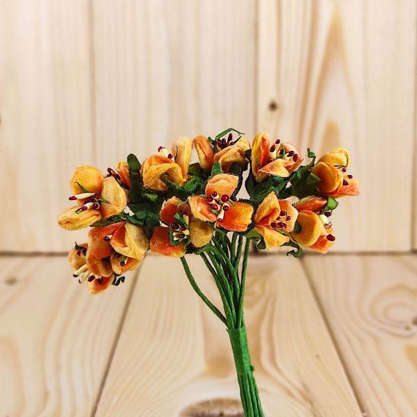 Fiorellino di campo con pistilli arancione