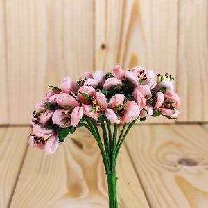 Fiorellino di campo con pistilli rosa