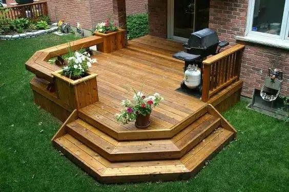 some backyard deck ideas on a budget