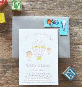 Baby Shower Letterpress Invitations Archives A P Design