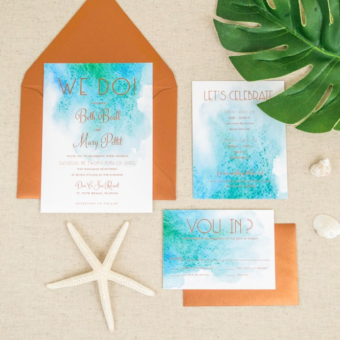 Beach Wedding Invitation Australia Ideas