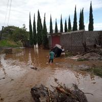 Se desborda río Yautepec en Atlatlahucan