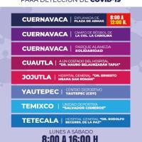 Suman tres nuevos módulos de pruebas antigénicas en Morelos