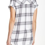 BLL Beach Lunch Lounge Short Sleeve Plaid Button Down Shirt