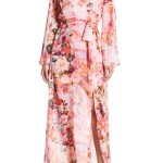 bell sleeved maxi dress