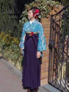 卒業式ヘアメイク袴の着付け3