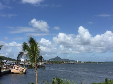 The shoreline of Tacloban was devastated by Typhoon Yolanda/Haiyan.