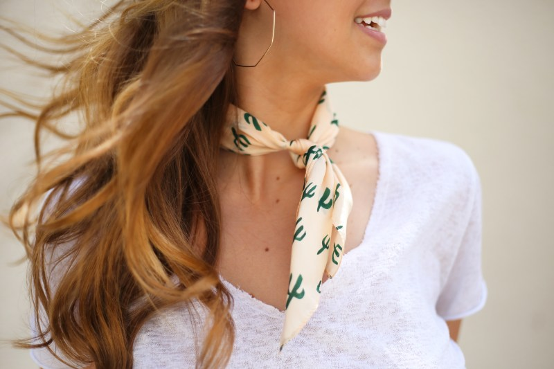 Cactus Scarf - A Pearl Kind of Girl