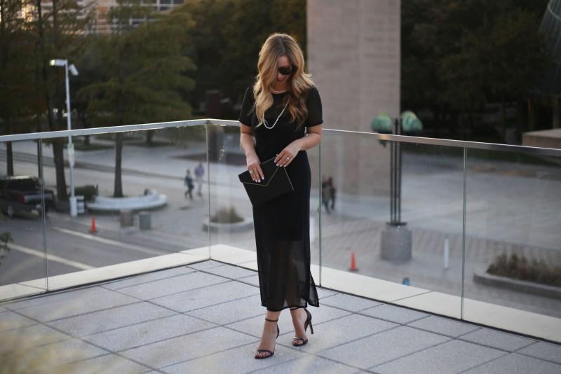 Black Mesh Dress - A Pearl Kind of Girl