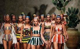 Dolce&Gabanna's models wearing the Spring-Summer collection