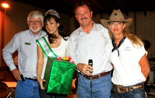 L-R, Scottsdale City Councilman Bob Littlefield, Ms. Earth - Arizona 2010, Scottsdale Mayor Jim Lane, and GPPA Board Member Marg Nelssen, Cookout at the Ranch, 2010