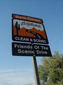 Friends of the Scenic Adopt a Road Cleanup Sign