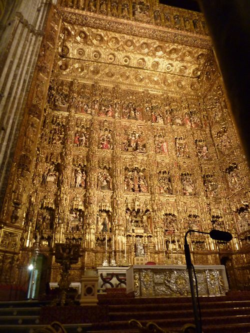 Gold alter in Seville Cathedral