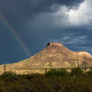 """Rainbow and Brown's Mountain"" by Laurel Strohmeryer"
