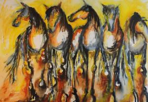 """""""Five Bright Horses"""" by Terry Meyer"""