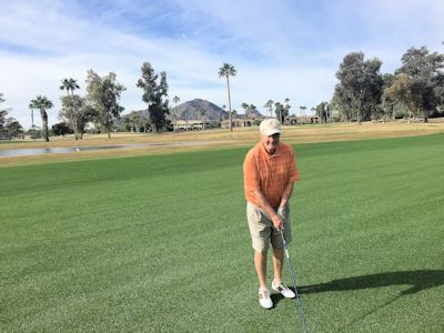 Author, Dave Wells, enjoying winter golf in Arizona. (Courtesy of Dave Wells.0