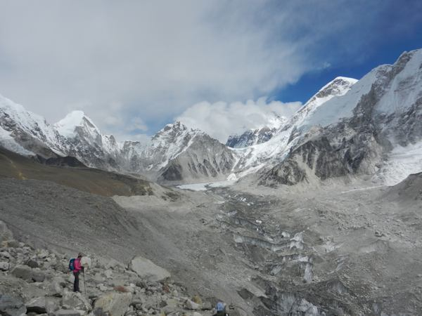 Khumbu Glacier Leading Up to Everest Base Camp