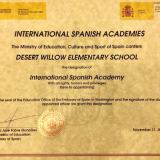 CCUSD: Desert Willow Inducted into Spanish Academies Network