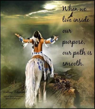 When we live inside our purpose, our path is smooth..