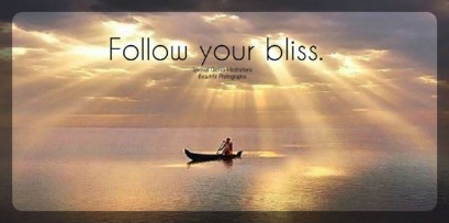 Follow your bliss and the universe will open doors for you where there were only walls. ~Joseph Campbell