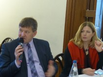 Franc Bogovic, MEP and member of the APE, and Katrin Kivi, Permanent Representative of Estonia to the Council of Europe and member of the APE