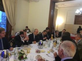 Breakfast with Ambassador Manuel Jacoangeli at the APE's premises
