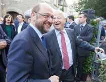Martin Schulz, President of the European Parliament and member of the APE, and Michael Theurer, MEP and Vice President of the APE