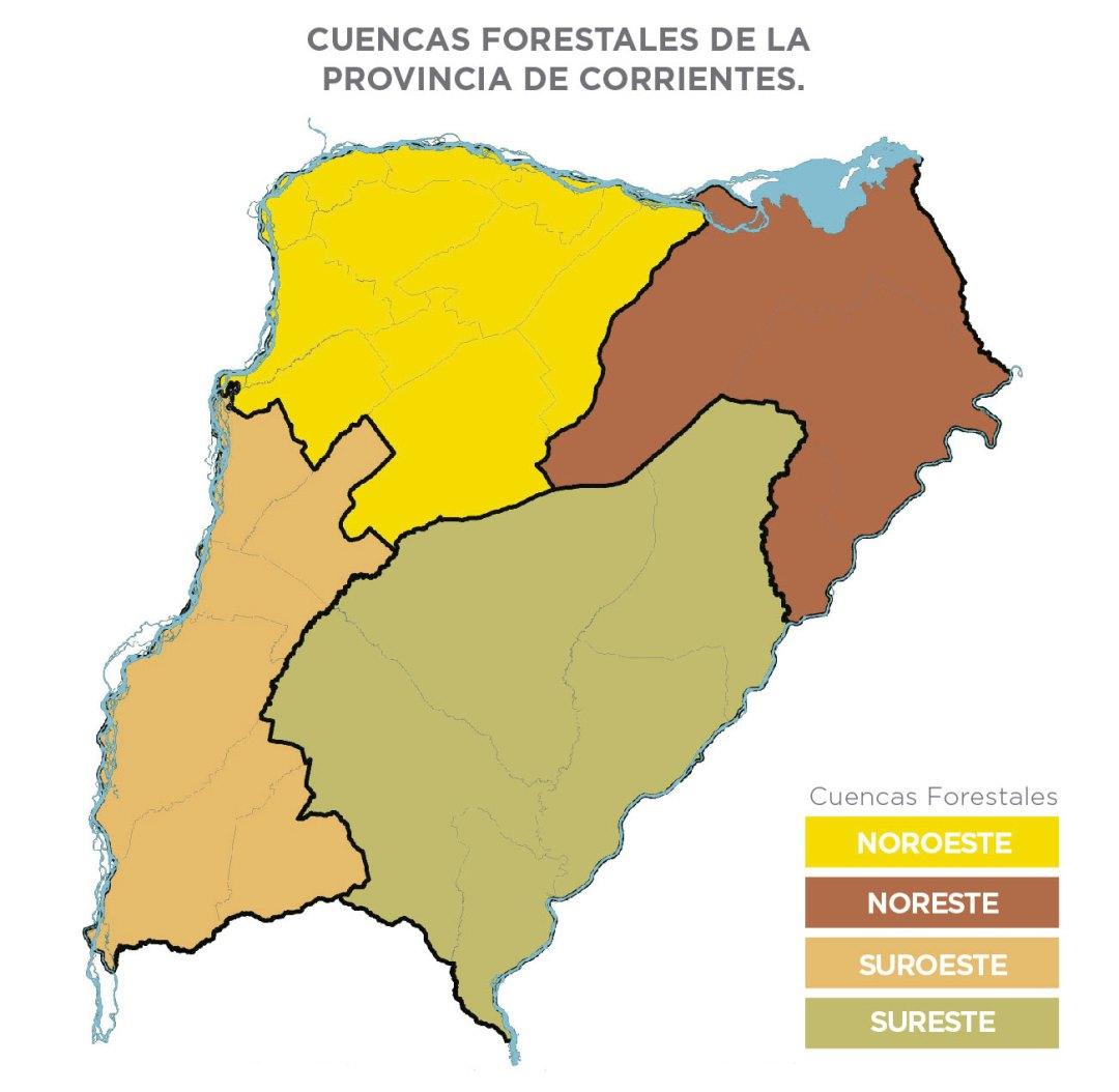 Cuencas Forestales de la Provincia de Corrientes