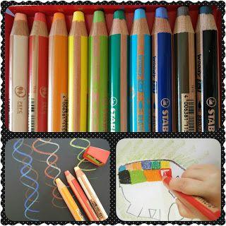 Anna Laura juega y crea con…los lápices multifuncionales