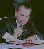 Nixon takes the US off the gold - dollar standard established at Bretton Woods