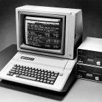 Apple II running VisiCalc spreadsheet