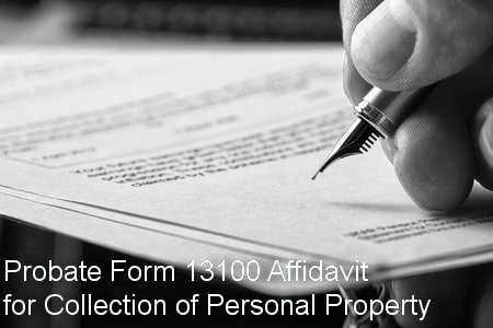 probate form 13100 affidavit for collection of personal property