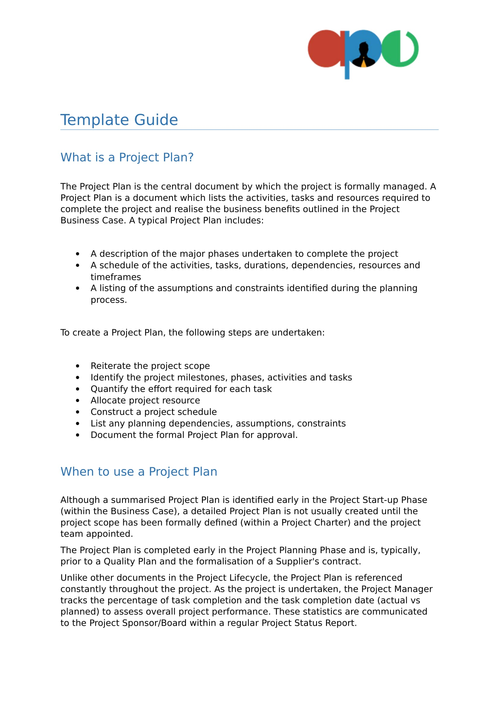 business project plan template