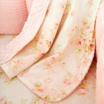 Shabby Chenille Crib Blanket