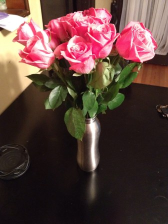 beautiful pink roses from my mother in law