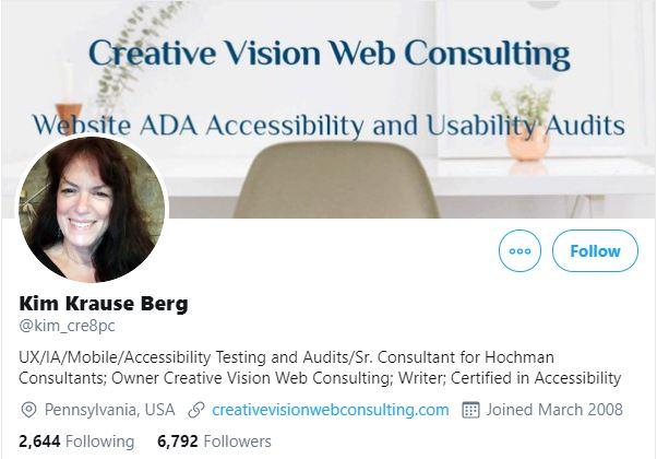 Kim Krause Berg Twitter Profile