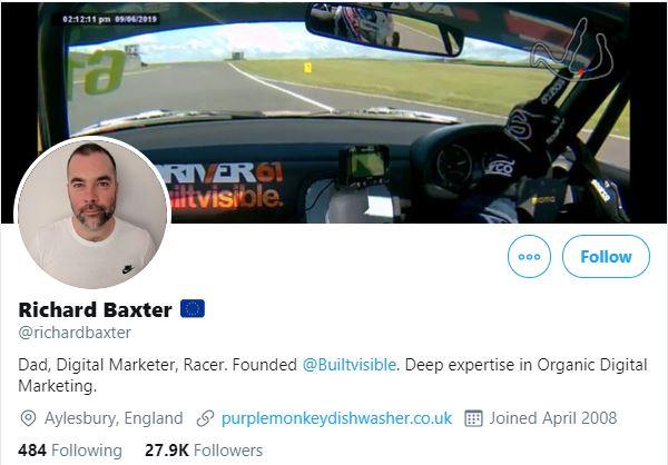 Richard Baxter Twitter Profile