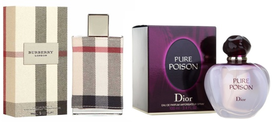 Burberry London and Pure Poison