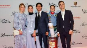 Bibi &Tina 4 at #MBBparty 2018 anlässlich der #Berlinale – mit Lisa-Marie Koroll, Emilio Sakraya, Lea van Acken, Louis Held und LINA