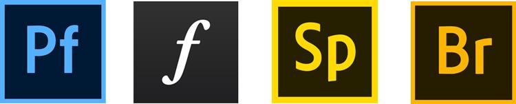 various adobe app logos