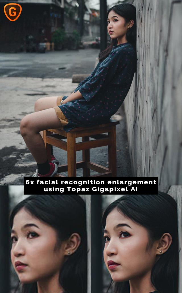 Topaz Gigapixel AI facial recognition test