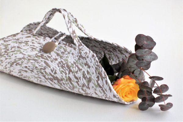 camo cut flower basket talula murphy