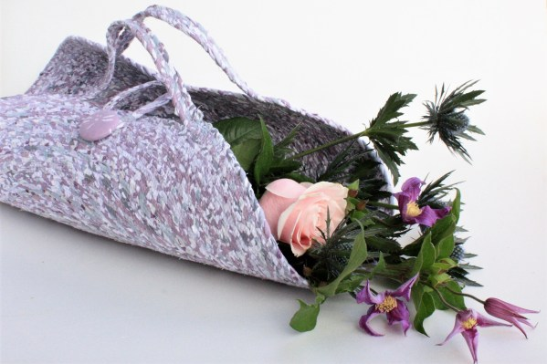 mauve cut flower basket talula murphy