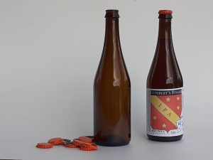 beer bottles and caps