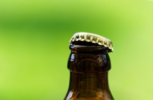 beer bottle and top